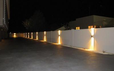 גדר מודולרית + תאורה